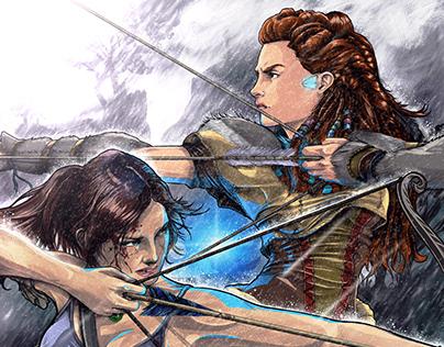 Lara Croft x Aloy the Nora