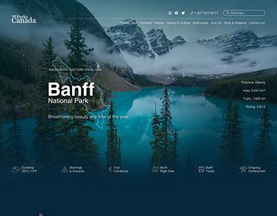 Parks Canada Redesign Concept