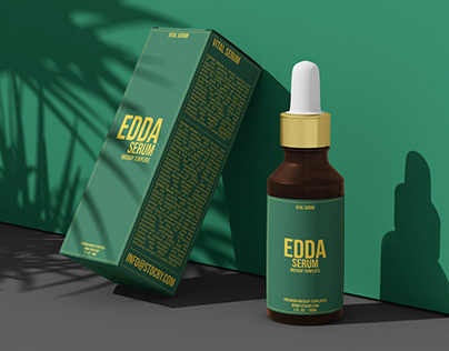 Serum Branding Design Mockup, Cosmetic Branding Designs