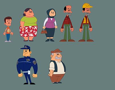 CharacterDesign_Güney Adana Projesi) Tanıtım Animasyonu