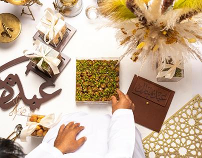 Eid dessert box photography
