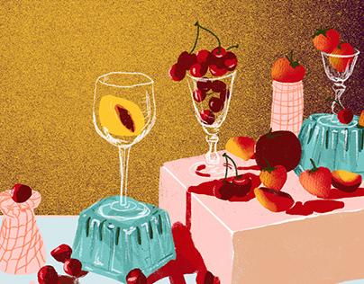 Frutas y copas