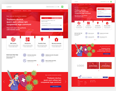 Landing page for a Post Office