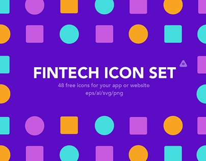 Fintech icon set