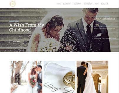 Blog Grid Style - Wedding WordPress Theme