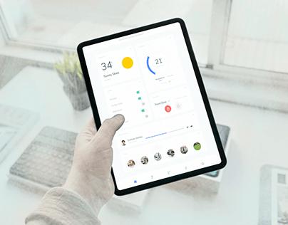 Home Monitoring Dashboard UI Design