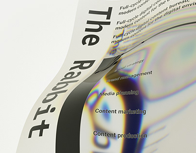 Website concept for the Rabbit Hole bureau