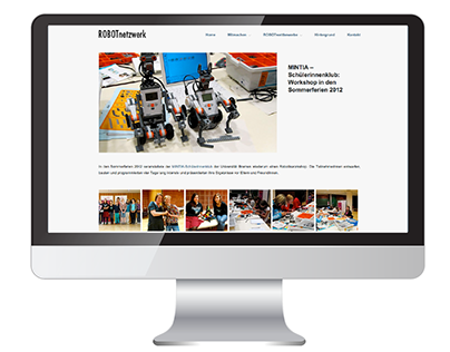 Robot Netzwerk Website