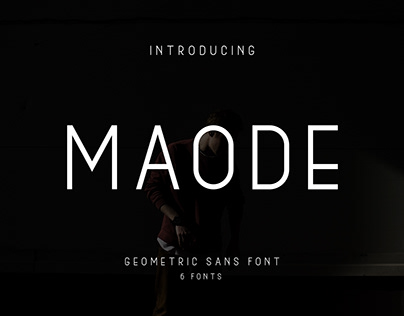Maode geometric sans font made by #fontself