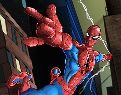Spider Man Digital Illustration