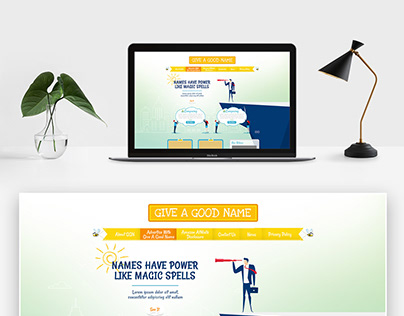 Give A Good Name homepage UI Design