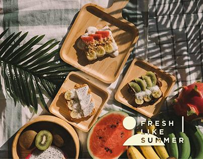 Fresh Like Summer Menu Design & Food Photography