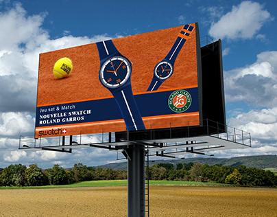 Pub pour la nouvelle montre swatch
