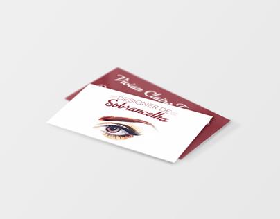 Cartão de Visitas Design de Sobrancelhas