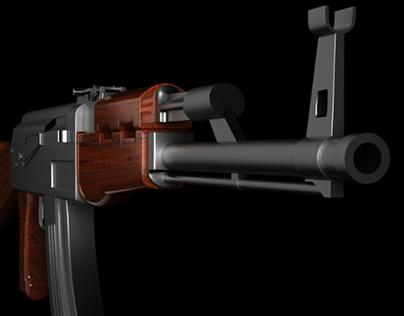 Video Game Ak-47 3D model