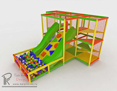 3d visualization of equipement for children