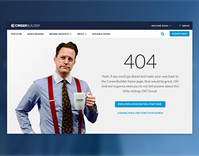 Hiring.CareerBuilder.com 404 Page