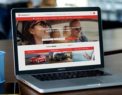 Leasing Options Website Design
