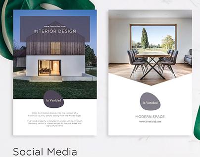 Modern House Social Media UI / UX design
