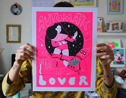 Automatic Lover // screenprint