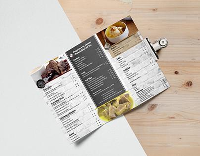 Diseño Menú para restaurante mexicano