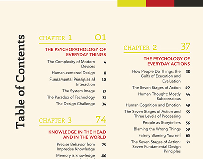 Table of Contents: The Design of Everyday Things