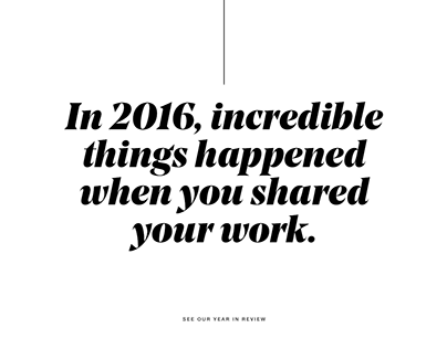 Behance Year in Review 2016