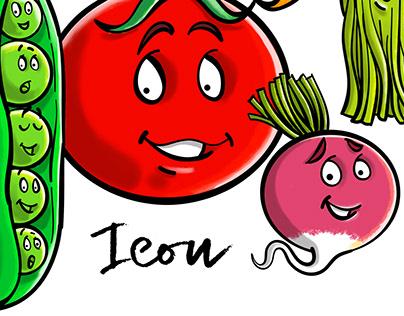 Bonjour les fruits et légumes!
