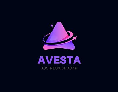 Modern Letter A | Logo design symbol icon