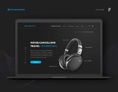 Sennheiser headphones site concept