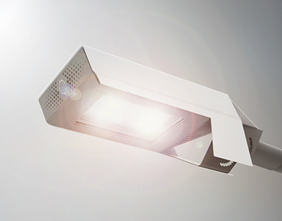Projekt oprawy lampy ulicznej dla marki Bilberry