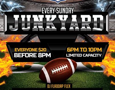 Junkyard Flyer for Lounge Sixty Six