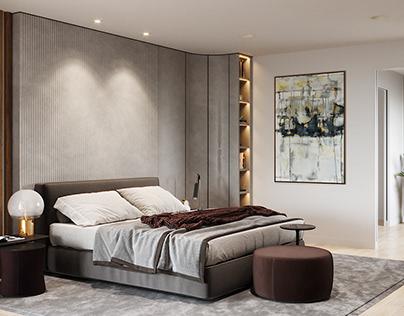 Interior CG Render for a Hotel Room Design