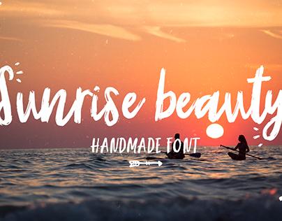 Sunrise   Handmade font + extras!