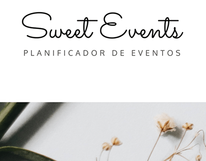 """""""Sweet Events"""" Web Page"""