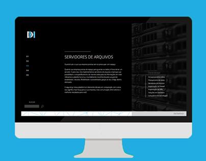 Website DataHold - Segurança Virtual