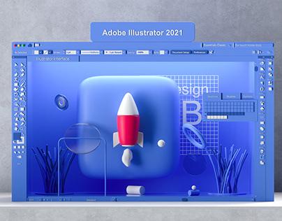Adobe Illustrator 3D interface