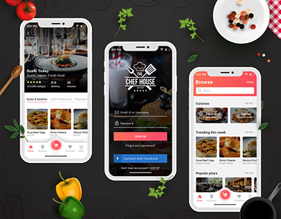 Chef House - Food App Design