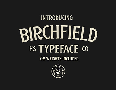 Birchfield - A Vintage Spur Serif Typeface