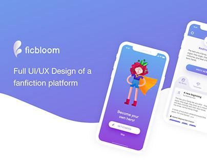 Ficbloom UI/UX