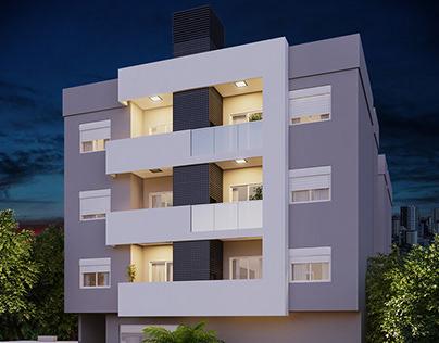 Prédio Residencial - 3D Modeling and Rendering