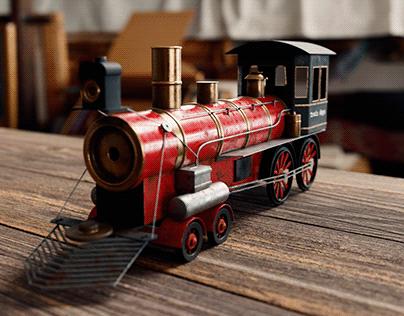 Old train model