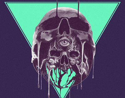 Skull in a skull and occult stuff