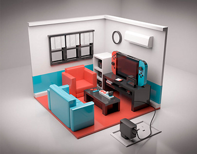 Nintendo Switch Living Room 3D