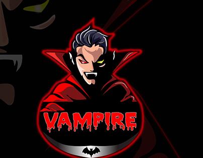 Red Vampire Mascot logo
