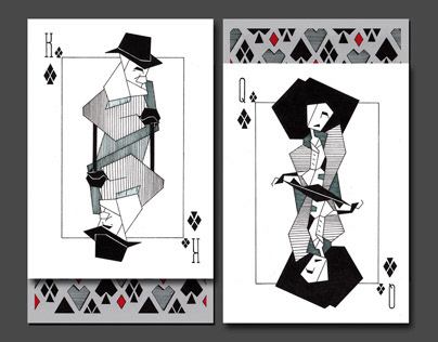 Design of playing cards 40'th