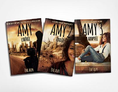 """Design et éditions de la trilogie """"AMY"""" (Ève Alpi)"""