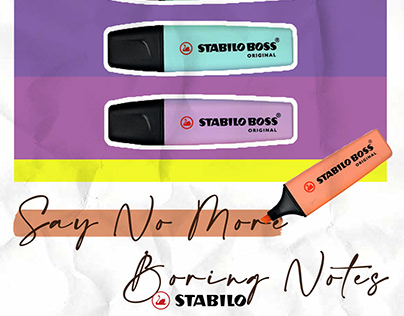 Stabilo Education Poster