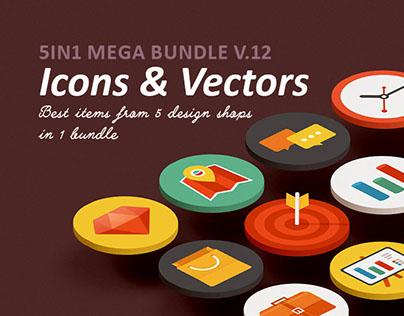Icons & Vectors mega Bundle