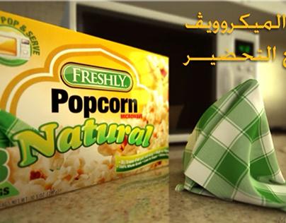 Freshly popcorn